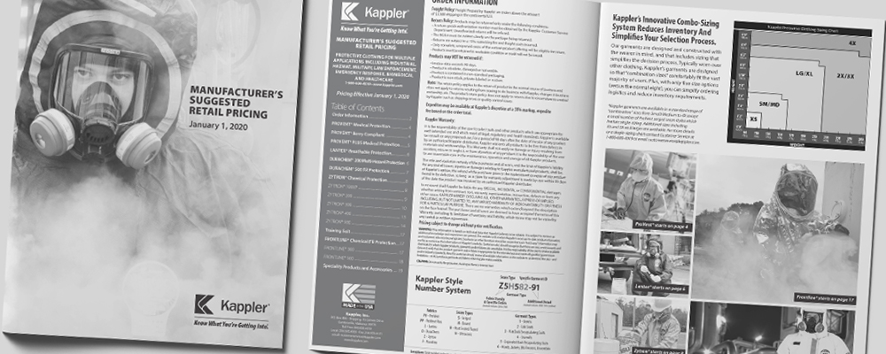 Click to view the Kappler U.S. and International pricelists